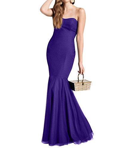 Brautjungfernkleider mia Lang Violett Etuikleider Ballkleider Meerjungfrau Dunkel Einfach Partykleider Brau La Abendkleider Damen 07dSzqqw