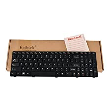 Eathtek New Laptop Keyboard with Frame for IBM Lenovo IdeaPad N580 N581 N585 N586 series Black US Layout, Compatible with part# 25010823 MP-10A33US-686 T2T7-US MP-10A3