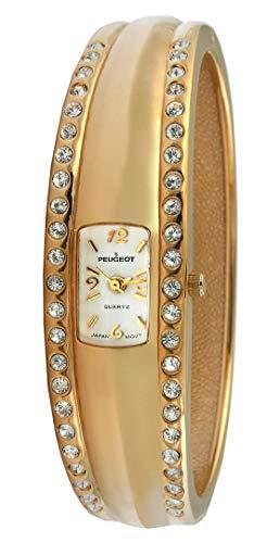 Peugeot Women's Cuff Bangle Crystal Fashion Watch ()