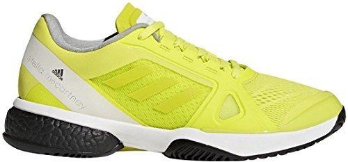 adidas Women's aSMC Barricade Boost Aero Lime/White/Black 7.5 B US
