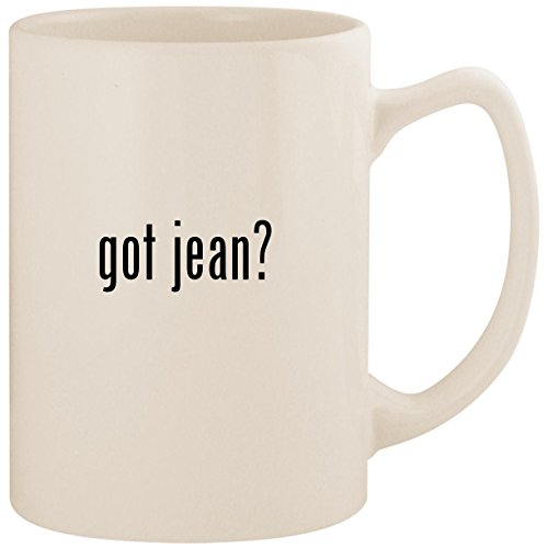 got jean? - White 14oz Ceramic Statesman Coffee Mug Cup