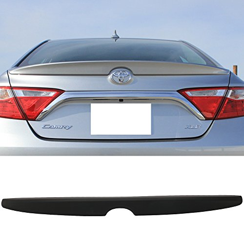 - Trunk Spoiler Fits 2015-2016 Toyota Camry | Factory Style ABS Unpainted Black Flush Mount Trunk Boot Lip Spoiler Wing Deck Lid By IKON MOTORSPORTS
