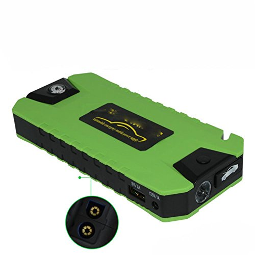 LPY-600A Peak 20000mAh Portable Car Jump Starter Auto Battery Booster Phone Power Bank with Smart Charging Port, Compass ()