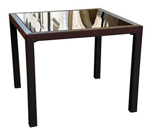 Cheap Compamia Miami Resin Wickerlook Square Dining Table Brown