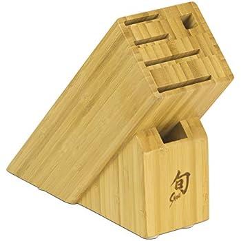 Amazon.com: Shun dm0830 bambú 13-Slot bloque de cuchillos ...