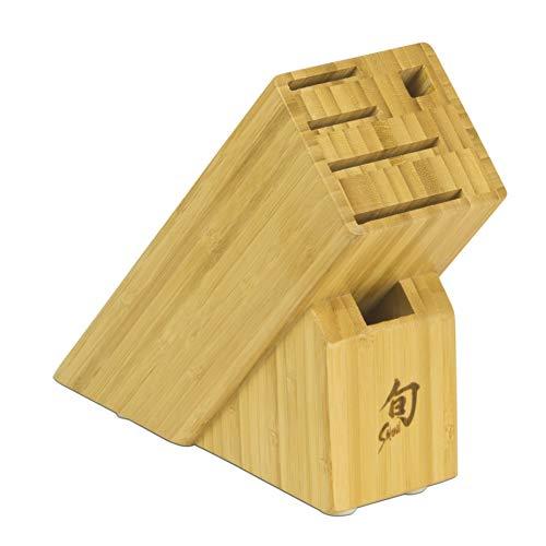 Shun DM0845 6-Slot Slimline Bamboo Knife Block, Brown