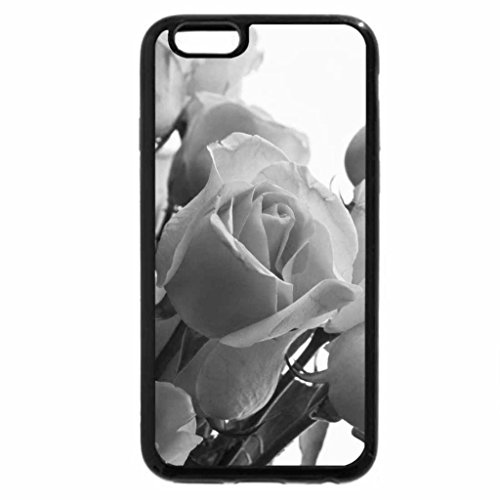 iPhone 6S Plus Case, iPhone 6 Plus Case (Black & White) - Roses at the window