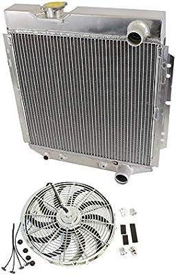 Radiador de aluminio de 2 filas de 18,75 x 21,25 x 7,62 cm