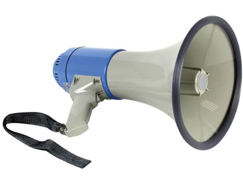 Veka - Megáfono con sirena (25 W, con bandolera)