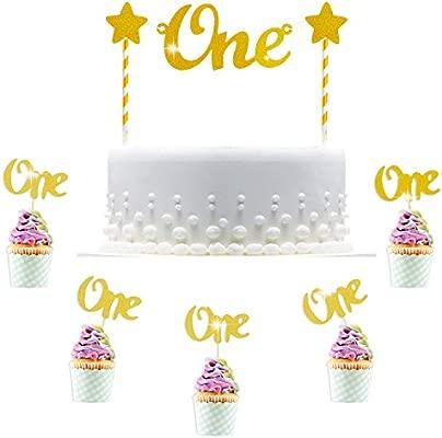 Hifot 1er cumpleaños Decoracion Cake Topper Decoración ...