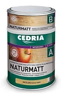 CEDRIA BARNIZ NATURMATT 4 litros (Uso alimentario)