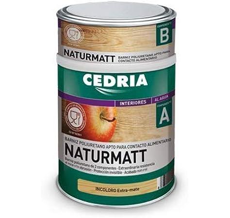 CEDRIA BARNIZ NATURMATT 4 litros (Uso alimentario): Amazon.es: Bricolaje y herramientas