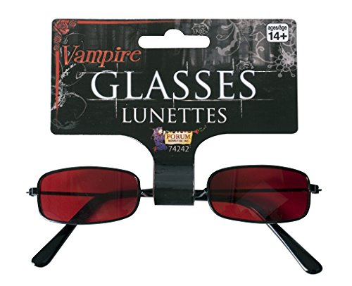Adult Red Tinted Vampire Glasses - (Vampire Sunglasses)