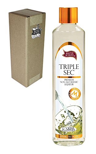 Master of Mixes Cocktail Essentials Triple Sec, 375 ML Glass Bottle (12.7 Fl Oz), Individually Boxed