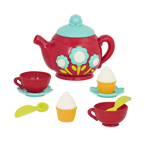 Battat - Musical Tea Playset - Kids Tea Party Set and Teapot with Sounds for Kids Age 3 Years+