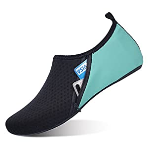 JIASUQI Womens and Mens Outdoor Aqua Water Shoes Socks for Beach Swimming Yoga Exercise