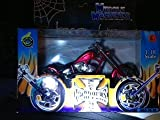 Jesse James 2003 (West Coast Choppers) El Diablo, (Cherry Red with White, Black and Orange Pinstripping on Top of Tank and Fenders)