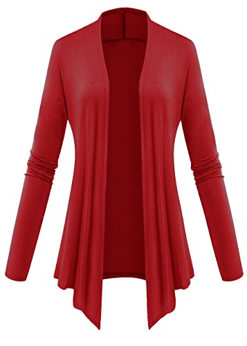Am Open Clothes Front 02 Mujer Cardigan Red bright Para AxFq6AwCR