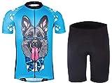 Ceroti Custom Apparel Service Youth Cycling Jersey Shorts Set, Kids Bike Jersey Set, Kids Biking Shorts Set Set for Girls Boys Breathable