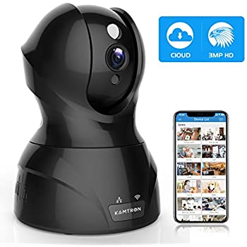 440d7acf498 Security Camera Pet WiFi Camera - KAMTRON 1536P Indoor Wireless IP Camera  Full HD 3MP Home