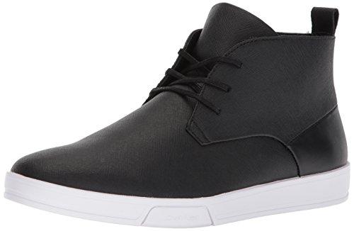 Calvin Klein Mænds Hytten Saffiano Sneaker Sort oGNeUhJb