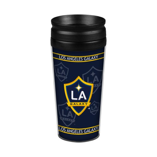 Los Angeles Galaxy Fan - MLS Los Angeles Galaxy Full Wrap Travel Tumbler, 14-ounce