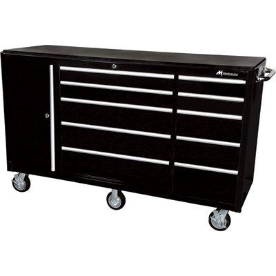 Montezuma 72in. 10-Drawer Tool Cart with Bulk Storage Area, Model# - Tool Drawer 10 Cart