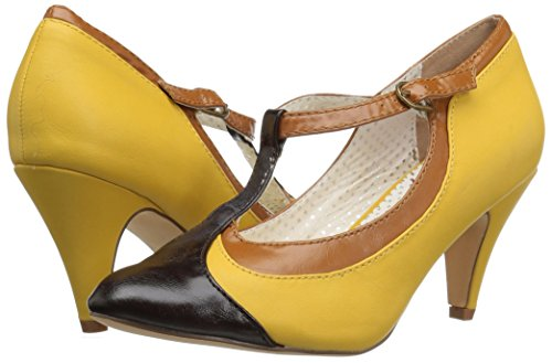 Up Up Up Yellow 03 Couture Pin Multi Faux Faux Faux Leather PEACH qIvOnw