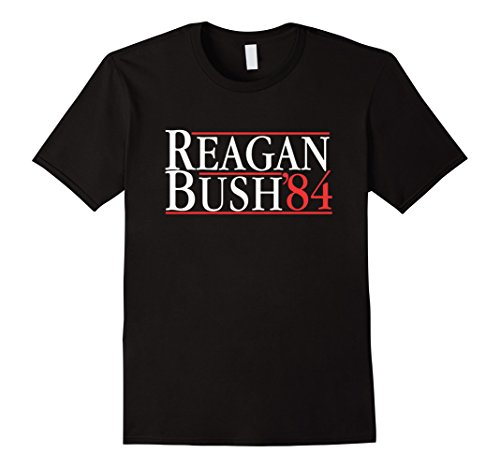 Mens Reagan For President 84 Vintage T Shirt- Reagan Bush 1984 XL Black - 1984 Black T-shirt