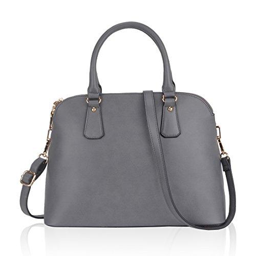 Designer Handbags,ZMSnow Grey Stylish Crossbody Tote Bags Purses for Women Ladies Girls