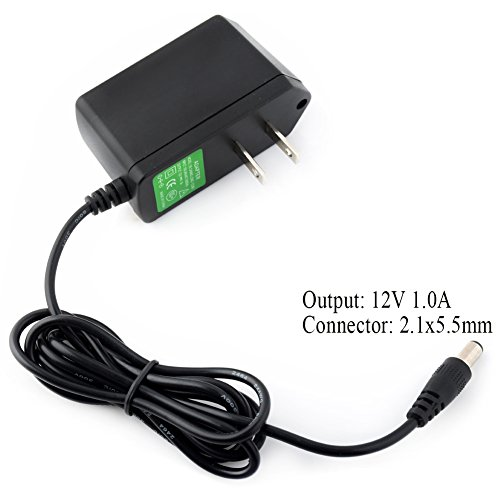 YCDC LED Starry String Lights Adapter AC 100V-240V DC 12V 1A, Strip Lamps CCTV Power Supply Charger US Plug, 2.1x5.5mm