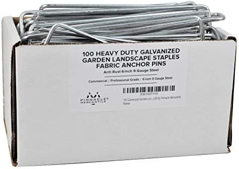 Pinnacle Mercantile Galvanized Landscape Staples