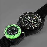 Marathon Watch Clip-On Wrist Compass with Glow in