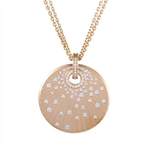 Chopard 18K Rose Gold Diamond Pendant Necklace