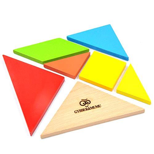 GYBBER&MUMU Little Star Children Mental Development Tangram Wooden Jigsaw Puzzle Educational Toys for Kids