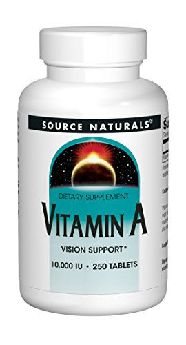 Source Naturals Vitamin A 10,000IU Premium Antioxidant Supplement - 250 Tablets