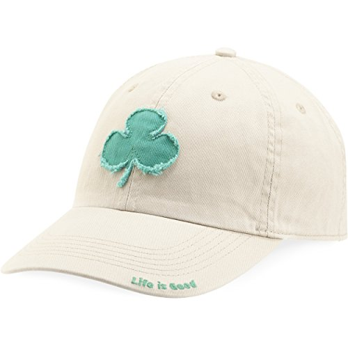 Life is good Tattered Chill Cap Clover Hat, Bone, One Size