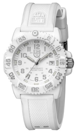 Luminox-Womens-Navy-SEAL-Colormark-7050-Series-Rubber-Watch-White