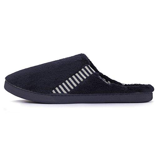 Zapatillas chinelas de rayas para hombre Isotoner Azul