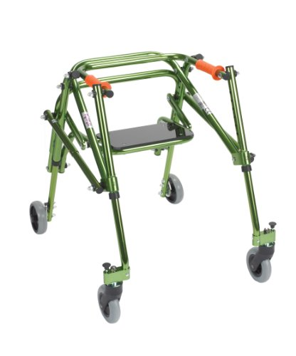 Wenzelite Nimbo Rehab Lightweight Posterior Posture Walker with Seat, Lime Green, Junior
