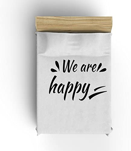 'we are happy' Blankets Flannel Fleece Modern Blanket Thick Cozy Solid -White, Black