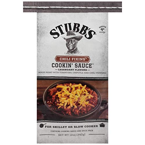 Stubb's Chili Fixins Cookin' Sauce, 12 Ounce (Pack of 4)