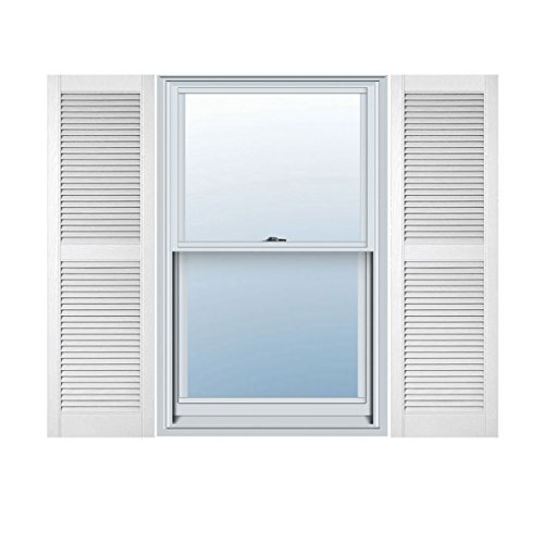 Ekena Millwork LL2C14X06000BW Custom Straight Top Center Mullion, Open LouverShutter (Per Pair)14 1/2
