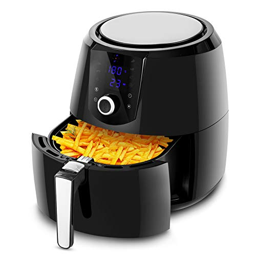 Traditional Wing Sauce - Safeplus 5.5Qt Air Fryer, 1800W Programmable Digital Oil Free Electric Hot Air Fryer, Screen Control Kitchen Healthy Cooker, Family Size XL