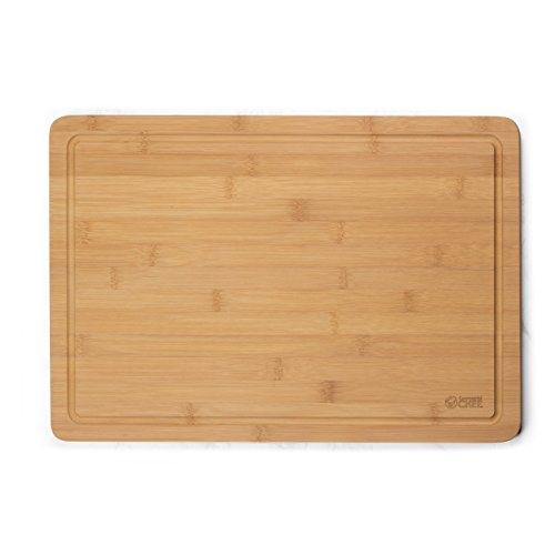 Cutting Board by Commercial Chef- Premium Chopping Board- Kitchen Cutlery and Charcuterie Station for Serving Meats, Cheese and Vegetables, Bamboo (Large) ()