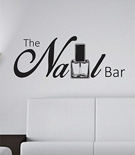 The Nail Bar Nail Tech Store Business Logo Version 101 Decal Sticker Wall Boy Girl Nailtech02occ4 25 1 2X28