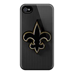 Scratch Protection Hard Cell-phone Case For Iphone 4/4s (WPB13835UDHa) Customized High Resolution New Orleans Saints Skin