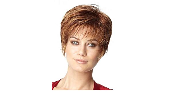 Amazon.com: LZLAN American Hot Short Auburn Wig for Women Synthetic Hair Replacement Wigs Cosplay Wigs Pelucas Elsa Fancy Dress Costume Party Wigs (Size: ...