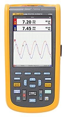 Fluke Industrial ScopeMeter Oscilloscope with Bus Health, Power Measurement, and Harmonics Mode