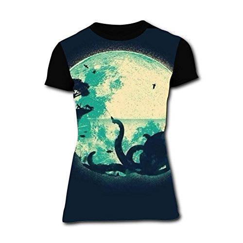94bda0120e17 Richelle shop Octopus Graphic T-Shirts 3D Printed Funny Short Sleeve for  Women M